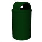 55 Gallon Green Granite Trash Receptacle, 2-Way Open Lid