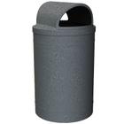 55 Gallon Dark Granite Trash Receptacle, 2-Way Open Lid