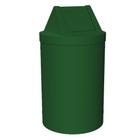 55 Gallon Green Trash Receptacle, Swing Top Lid