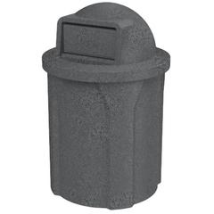 42 Gallon Dark Granite Trash Receptacle, Dome Top Lid