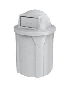 42 Gallon Light Granite Trash Receptacle, Dome Top Lid