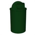 55 Gallon Green Granite Trash Receptacle, Dome Top Lid