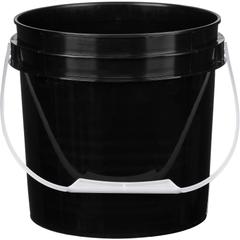 1 Gallon Black Plastic Pail with Plastic Handle