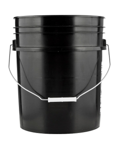 5 Gallon Black Plastic Pail with Metal Handle, UN Rated