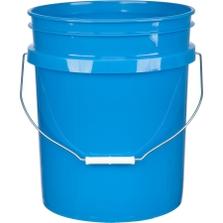 5 Gallon Chevron Blue Plastic Pail with Metal Handle