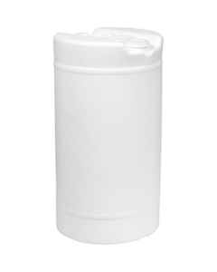 """15 Gallon Natural Tight Head Plastic Drum, UN Rated, 2"""" & 3/4"""" Fittings"""