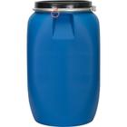 16 Gallon Blue Plastic Drum, UN Rated