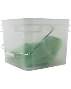 2 Gallon Clear Square Pail with Metal Handle