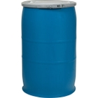 30 Gallon Blue Open Head Straight Sided Plastic Drum with Lever Lock Ring, UN Rated Y180