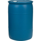 """30 Gallon Blue Tight Head Plastic Drum, UN Rated, Two 2"""" Fittings"""