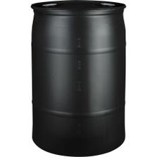 30 Gallon Black Tight Head Plastic Drum, UN Rated