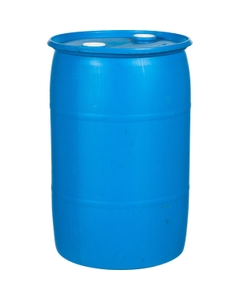 """30 Gallon Tight Head Plastic Drum, Reconditioned, Mixed Colors, UN Rated, 2"""" NPT & 2"""" Buttress Fittings"""