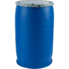 """30 Gallon Blue Plastic Drum, UN Rated, 2"""" & 3/4"""" Fittings"""