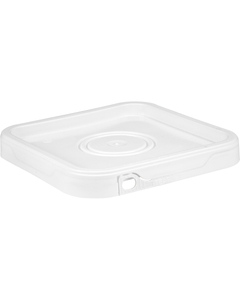 Square White Tamper Evident Lid w/ Tear Tab and Flowed In Gasket