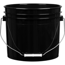 3.5 Gallon Black Plastic Pail with Metal Handle (P5 Series)