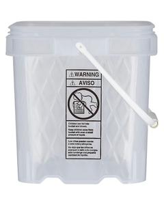 4.3 Gallon Clear EZ Stor® Diamond Weave Plastic Container w/Handle