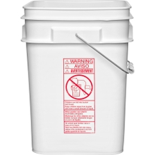 4 Gallon White Square Plastic Pail with Metal Handle