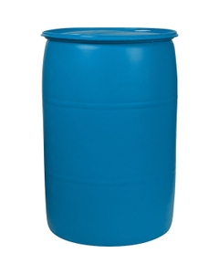 """55 Gallon Blue Tight Head Plastic Drum, UN Rated, Two 2"""" Buttress Fittings"""