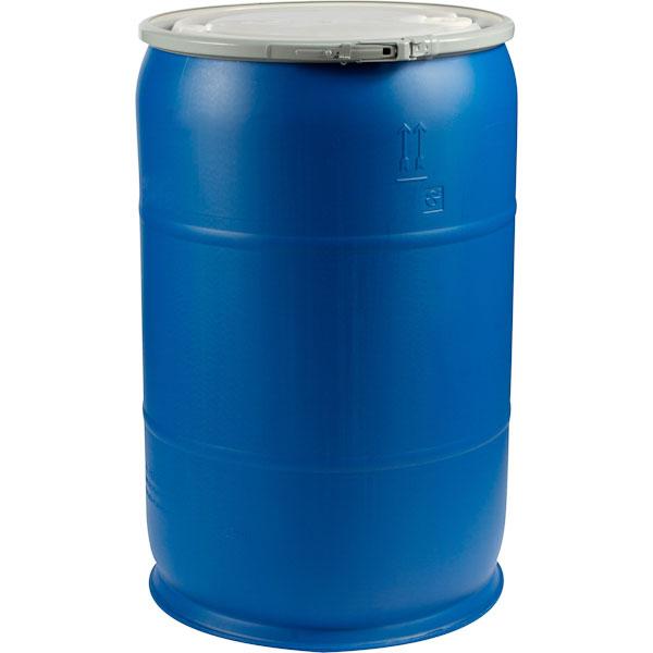 Gallon blue plastic drum un rated quot fittings