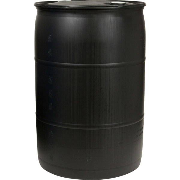 55 Gallon Black Head Plastic Drum Un Rated 2 Nps Ress Ings