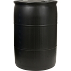 """55 Gallon Black Tight Head Plastic Drum, UN Rated, 2"""" NPS & 2"""" Buttress Fittings"""