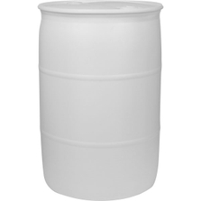 """55 Gallon Natural Tight Head Plastic Drum, UN Rated, 2"""" NPS & 2"""" Buttress Fittings"""