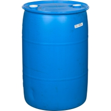 """55 Gallon Tight Head Plastic Drum, Reconditioned, UN Rated, 2"""" Fittings (pictured in blue / comes in various colors)"""