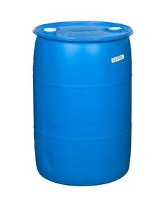 """55 Gallon Blue Tight Head Plastic Drum, Reconditioned, UN Rated, 2"""" Fittings"""