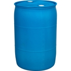 """55 Gallon Blue Tight Head Plastic Drum w/PCR, UN Rated, 2"""" NPS & 2"""" Buttress Fittings"""