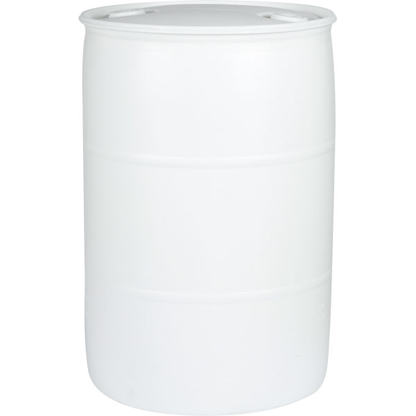 55 Gallon White Head Plastic Drum Un Rated 2 Nps Ress Ings