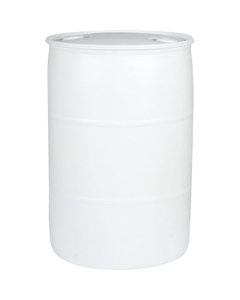 """55 Gallon White Tight Head Plastic Drum, UN Rated, 2"""" NPS & 2"""" Buttress Fittings"""