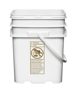 5.3 Gallon White EZ Stor® HDPE Plastic Container w/Handle