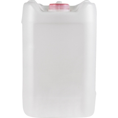 5 Gallon Rectangular Natural Plastic Tight Head, 70mm (6 TPI), Vent