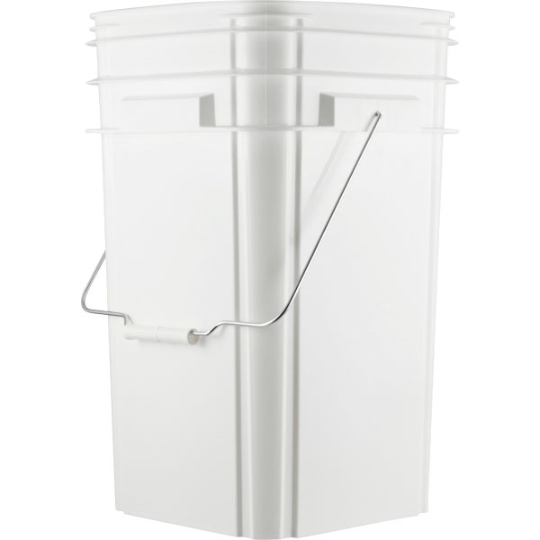 5 Gallon Square Plastic Buckets