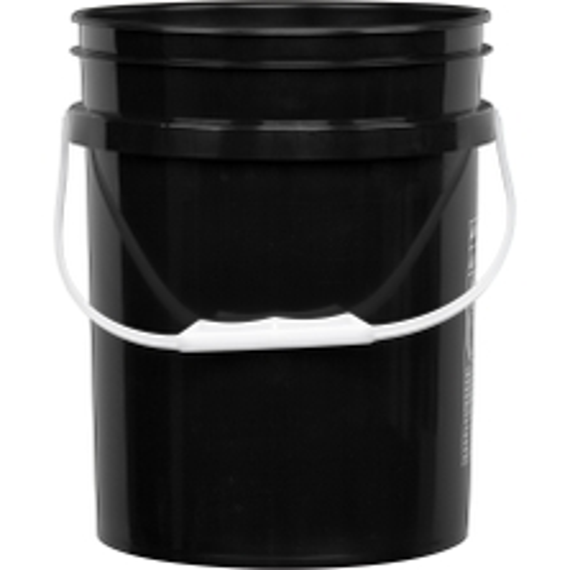 5 Gallon Black Plastic Pail (90 mil), w/ Plastic Handle