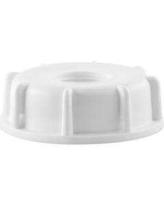 """61mm White Screw Cap with 3/4"""" Reducer"""