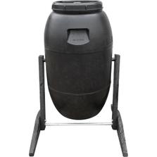 55 Gallon Composter Made with Recycled Drum and Wood