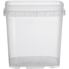 1 Gallon Clear Tall EZ Stor® PP Plastic Container, No Handle