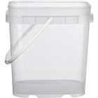 1 Gallon Clear Tall EZ Stor® PP Plastic Container w/Handle
