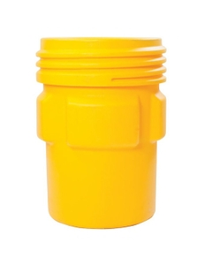 95 Gallon Yellow Overpack Plastic Drum with Screw-On Lid, UN Rated