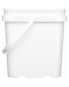 1 Gallon White Tall EZ Stor® PP Plastic Container w/Handle