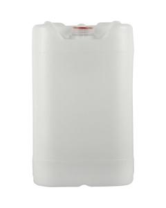 6 Gallon (22L) Natural HDPE Plastic Tight Head, Tamper Evident 61mm (6TPI), No Vent Stem