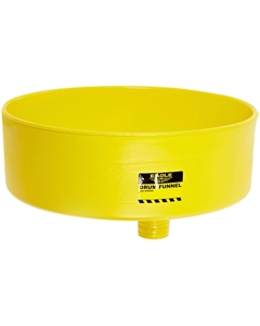 Yellow Drum Funnel w/ Brass Screen for 30 & 55 Gallon Drums, 18 x 7, Eagle® 1662