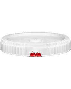 12 Gallon Threaded Plastic Drum Lid, Lite Latch, UN Rated