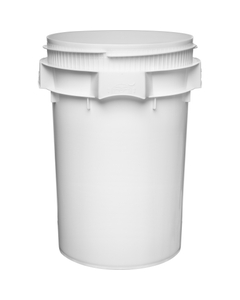 10.7 Gallon White Plastic Pail, Threaded Opening, Lite Latch, UN Rated