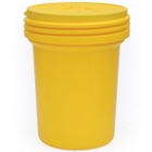 30 Gallon Yellow Lap Pack Plastic Drum with Screw On Lid, UN Rated