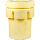 95 Gallon Yellow Plastic Salvage Drum, Screw On Lid, UN Rated