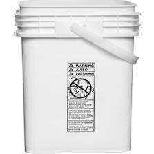 5 Gallon UN3H2/Y25/S White HDPE Super Kube K1 Pail