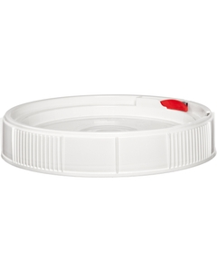 0.6 Gallon White Threaded Plastic Pail Lid, UN Rated