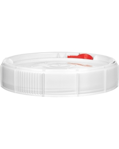 White Threaded Plastic Pail Lid for 2 & 2.5 Gallon Pails, Life Latch, UN Rated